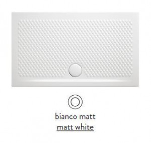 PDR018 05; 00 Поддон ArtCeram Texture 100 х 70 х 5,5 см,, прямоугольный, цвет - белый матовый, из искусственного камня