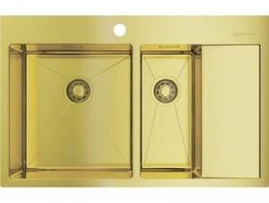 4973087 Мойка кухонная Omoikiri Akisame 78-2 LG-L светлое золото