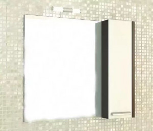 Зеркальный шкаф Comforty Барселона 90 L/R белый/венге