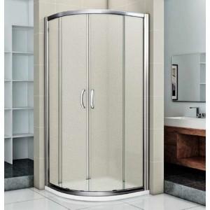 ИН00009 Душевой уголок Good Door Infinity R -100-G-CH, 100 х 100 х 185,, стекло матовое Грейп, хром