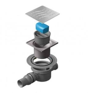 13000016 Трап водосток Pestan Confluo Standard Dry 2 100*100 мм нержавеющая сталь без рамки