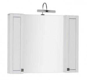 Зеркало-шкаф Aquanet Честер 105 00182631, цвет белый, патина серебро