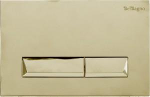 Кнопка смыва BelBagno MARMI, цвет-золото