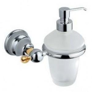 Дозатор для мыла Inda Raffaella A32120CD21, настенный, хром/золото
