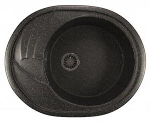 ML-GM17 (308) Кухонная мойка Mixline, врезная сверху, цвет - черный, 57 х 46.5 х 18 см
