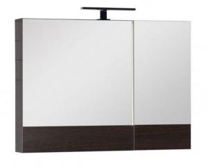 Зеркало-шкаф Aquanet Нота 90 (камерино) 00159110, цвет венге