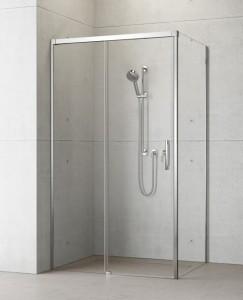 387040-01-01L/387053-01-01R Душевой уголок Radaway Idea KDJ 100 x 110 левый, стекло прозрачное