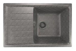 ML-GM19 (309) Кухонная мойка Mixline, врезная сверху, цвет - темно-серый, 75 х 49.5 х 20 см