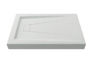 ЛП00001 Душевой поддон Bas Атриум 110 x 80 см,, литьевой мрамор, прямоугольный, белый