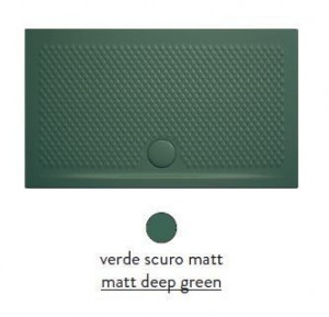 PDR021 30; 00 Поддон ArtCeram Texture 120 х 80 х 5,5 см,, прямоугольный, цвет - verde scuro matt (темно-зеленый), из искусственного камня