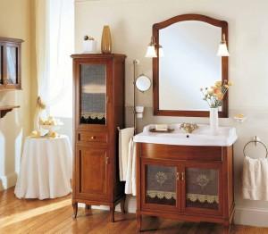 Комплект мебели для ванной комнаты Labor Legno VICTORIA Composizione H 101, орех/бронза, 90 см