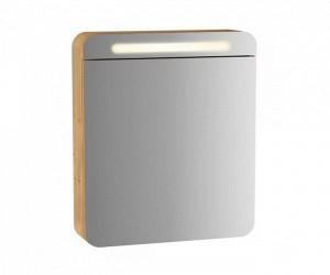 Зеркало-шкаф Vitra Sento 60895 60 см, с LED подсветкой, левосторонний, цвет - дуб