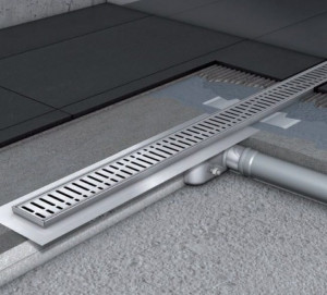 408722/408557 Душевой канал Aco Showerdrain C 68.5 x 7 x 6.5 см с решеткой, серый