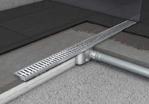 408736/408557 Душевой канал Aco Showerdrain C 68.5 x 7 x 9.2  см с решеткой, серый
