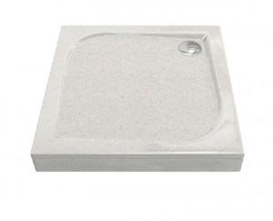 ЛП00028 Душевой поддон Bas Квадро 100 x 100 см, Лэйси,, литьевой мрамор, квадратный, бежевый