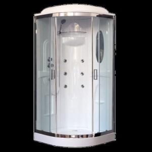 RB90HK2-T-CH Душевая кабина Royal Bath 90 x 90 x 217 см, двери прозрачные, задние стенки белые, хром