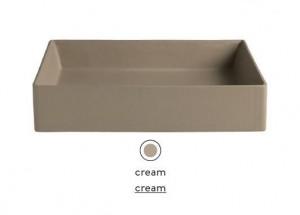 SCL002 22; 00 Раковина ArtCeram Scalino 55, накладная, цвет - cream (бежевый), 55 х 38 х 11,5 см