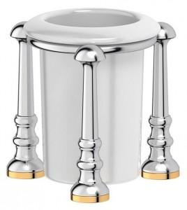 Держатель со стаканом 3SC Stilmar UN STI 127 настольный, хром, золото