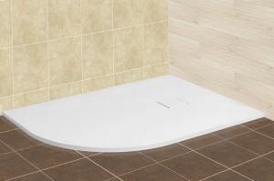 16154128-01L Душевой поддон RGW ST/A L/R - 0128W/R 80 x 120 см, асимметричный, цвет белый, из искусственного камня
