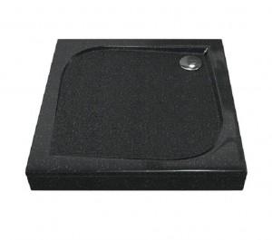 ЛП00030 Душевой поддон Bas Квадро 100 x 100 см, Антрацит,, литьевой мрамор, квадратный, черный