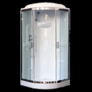 RB90HK1-T-CH Душевая кабина Royal Bath 90 x 90 x 217 см, двери прозрачные, задние стенки белые, хром