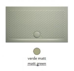 PDR019 26; 00 Поддон ArtCeram Texture 100 х 80 х 5,5 см,, прямоугольный, цвет - verde matt (светло-зеленый), из искусственного камня