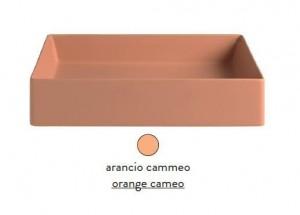 SCL001 13; 00 Раковина ArtCeram Scalino 38, накладная, цвет - arancio cammeo (оранжевый камео), 38 х 38 х 11.5 см