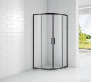 ECO-O-R-2-90-C-NERO Душевой уголок Cezares, 90 х 90 х 190 см, стекло прозрачное