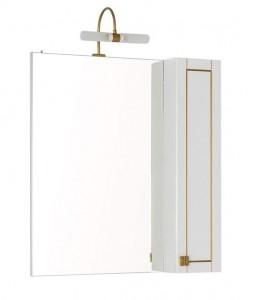 Зеркало-шкаф Aquanet Честер 75 00186090, цвет белый, патина золото