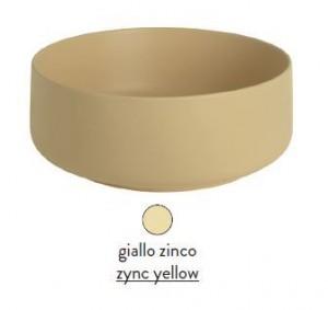 COL002 12; 00 Раковина ArtCeram Cognac, накладная, цвет - giallo zinco (желтый цинк), 48 х 48 х 12,5 см