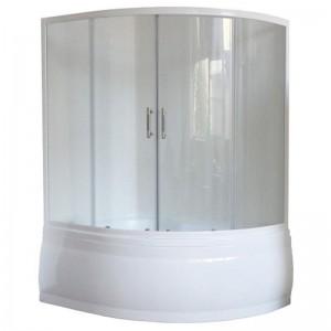 RB150ALP-Tлевая Шторка на ванну Royal Bath Alpine RB 150ALP-T 150 см, прозрачное стекло, левая/правая
