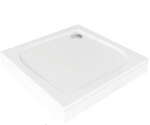 ЛП00007 Душевой поддон Bas Квадро 80 x 80 см,, литьевой мрамор, квадратный, белый