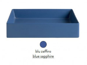 SCL002 16; 00 Раковина ArtCeram Scalino 55, накладная, цвет - blu zaffiro (синий сапфир), 55 х 38 х 11,5 см