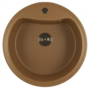 ML-GM09 (307) Кухонная мойка Mixline, врезная сверху, цвет - терракотовый, 49 х 49 х 18.5 см