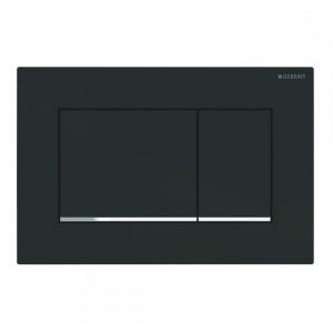 115.883.14.1 Клавиша Geberit Sigma Type 30, пластик, черный/хром матовый (не оставляет отпечатки пальцев)