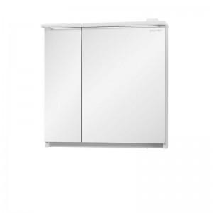 Зеркальный шкаф Edelform Amata 80, с LED-подсветкой, белый глянец
