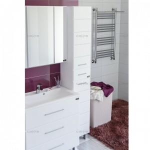 Шкаф-пеналСаНтаОмега 30507001, напольный, цвет белый