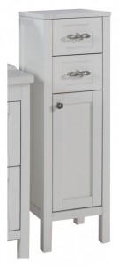 9013 белая, патина серебро Тумба АСБ-Мебель Римини 30 белая, патина серебро