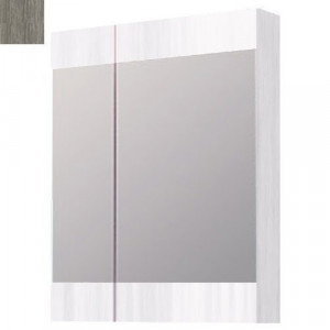 Шкаф зеркальный Aqwella Бриг 60 Br.04.06/Gray, дуб седой