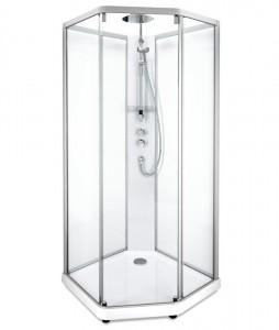 558.204.306 Душевая кабина IDO Showerama 10-5 Comfort, 90 x 80 см, стекло прозрачное, задние стенки прозрачные, профиль аллюминий