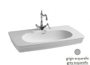 CIL002 34; 00 Раковина ArtCeram Civitas, подвесная, цвет - grey acquarello (серый), 90 х 50 х 18 см