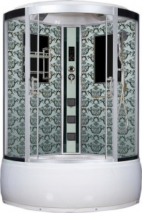 NG-7744W Душевая кабина Niagara, 120 x 120 см с гидромассажем, стенки белые