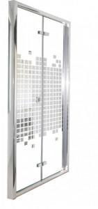 Bella D91 Душевая дверь Cerutti 90x195 см в нишу складная, двусторонний рисунок