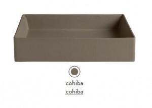 SCL001 23; 00 Раковина ArtCeram Scalino 38, накладная, цвет - cohiba (коричневый), 38 х 38 х 11.5 см