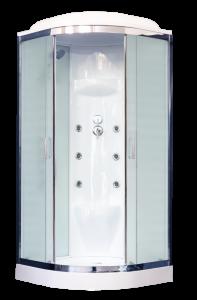 RB100HK7-WC-CH Душевая кабина Royal Bath, стекло рифленное