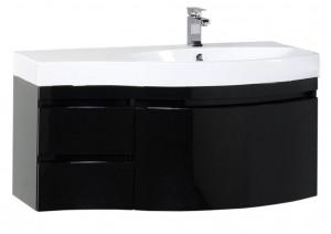 169659 Тумба под раковину Aquanet Опера 1-115 (3 ящика) 00169659, правая, цвет черный