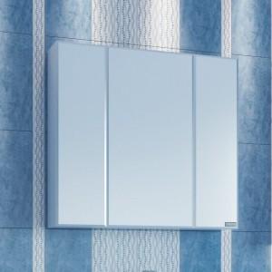 Зеркальный шкаф СаНта Стандарт 80 113010, цвет белый