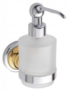 Дозатор жидкого мыла Bemeta Retro 144209108 7 x 12 x 15 см, 200 мл, хром/золото