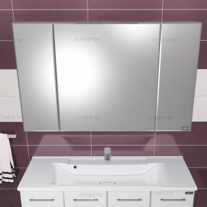 Зеркальный шкаф СаНта Стандарт 120 113019, цвет белый