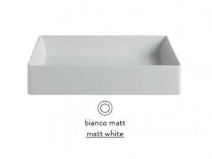 SCL002 05; 00 Раковина ArtCeram Scalino 55, накладная, цвет - белый матовый, 55 х 38 х 11,5 см